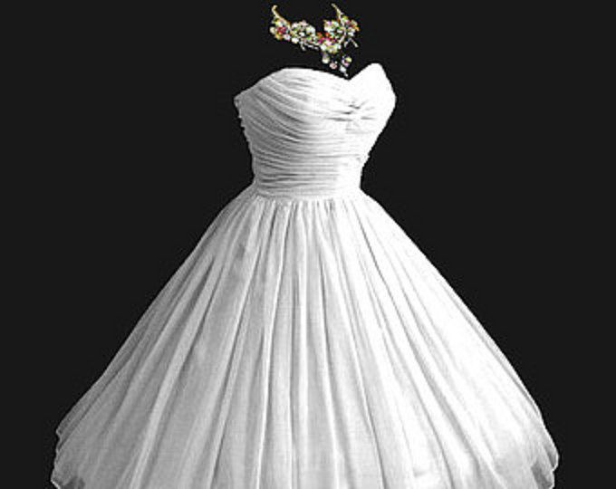 All sizes Custom Vintage 1950's 50s Style Ruched Chiffon Party Prom Dress... Deliciously offered in these Colors...