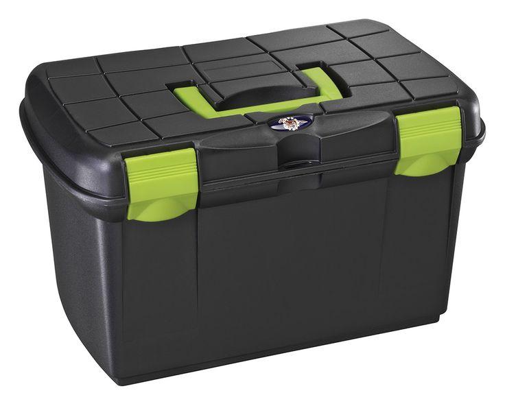 Bauletto con vaschetta interna estraibile e rinforzo per sedile, portata 100 kg.  Può essere usato anche come sgabello o seggiolino.