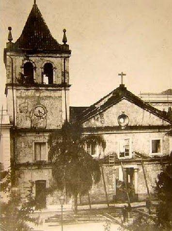 Igreja do Pateo do Colégio que desabou em 1902 Ano: 1900 Autor: desconhecido