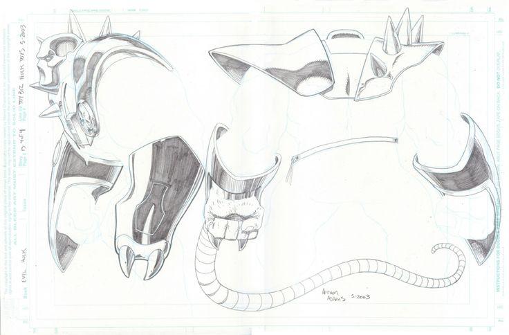 Arthur Adams-Evil Hulk Armor toy designs Comic Art