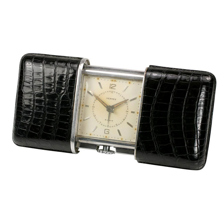 MOVADO Large Travel Clock for HERMES circa 1930s