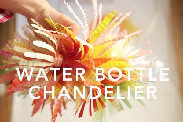Water Bottle Chandelier DIY | Oh Happy Day!