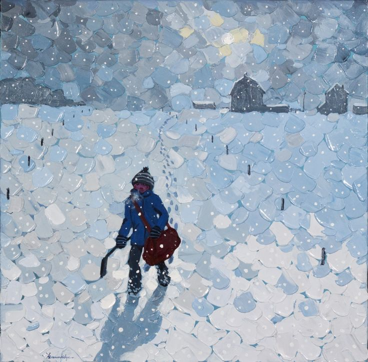 'Just Got to Go' by Bill Brownridge  2013, acrylic  at Mayberry Fine Art
