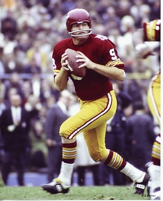 Sonny Jurgenson: He never won a championship, but he had one of the great arms. I once saw him, in practice, throw a ball in a perfect spiral, downfield 30 yards. When Kilmer faltered, bring in Sonny.