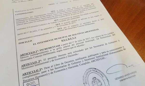 Gran acuerdo salarial para los trabajadores municipales de Malvinas Argentinas