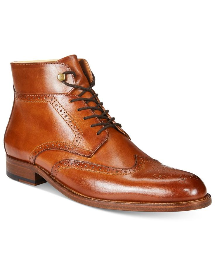 Tasso Elba Men's Dantel Wingtip Boots, Only at Macy's