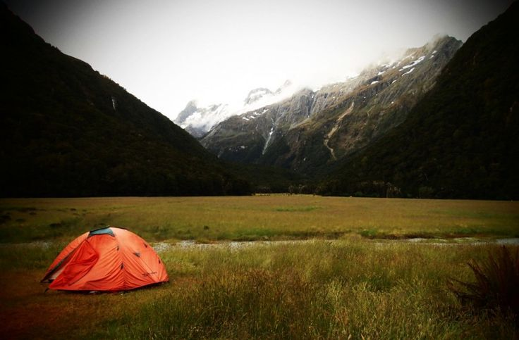 Camping in Routeburn Track, Mount Aspiring National Park, New Zealand