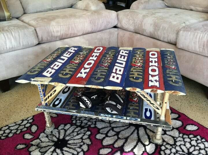 Goalie Stick Coffee Table