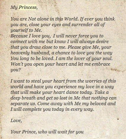 Love Letters of God to His Princess | The Lily-White Princess