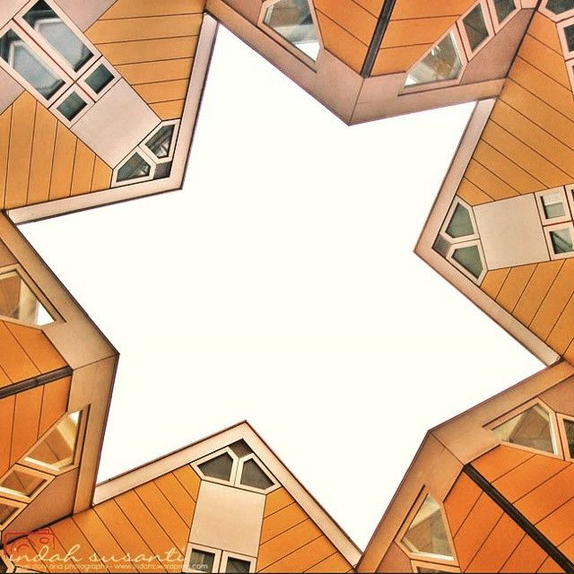 Travel Tuesday Picture: Find the star when you are in Rotterdam  Taken in Cubicle Houses, Blaak, Rotterdam