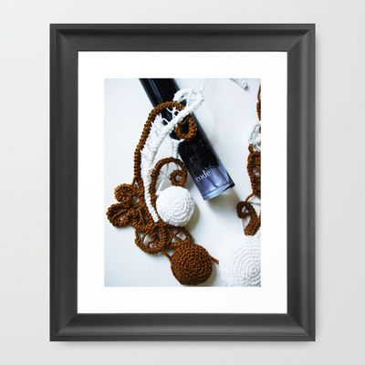 Romanian Point Lace and Perfume Photography  Framed Art Print by BaleaRaitzART - $56.00