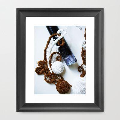 Romanian Point Lace and Perfume Photography  Framed Art Print by BaleaRaitzART - $56.00