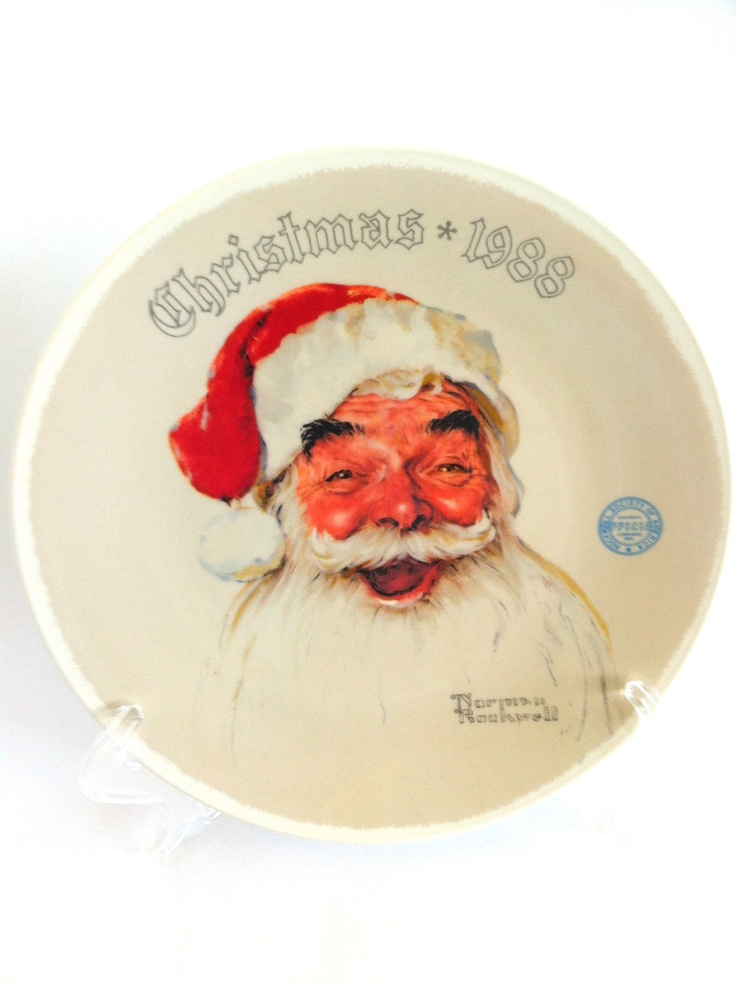1988 Norman Rockwell Christmas Plate  Santa   sc 1 st  Pinterest & 152 best Rockwell decorative plates and figurines images on ...