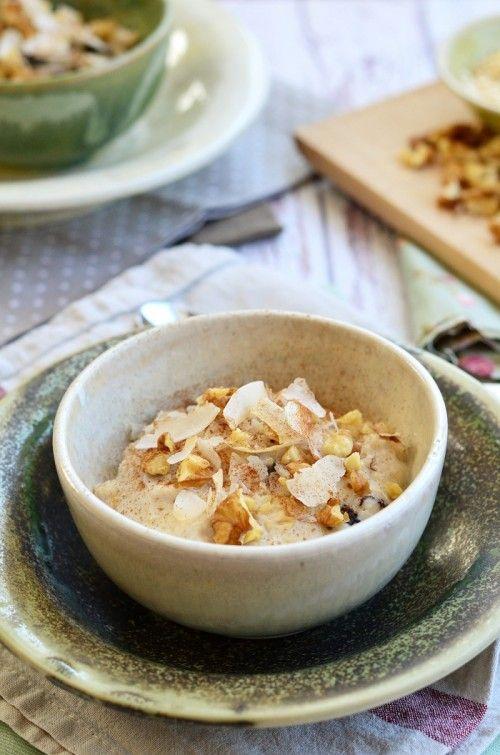 Kókuszos, aszalt gyümölcsös zabkása recept