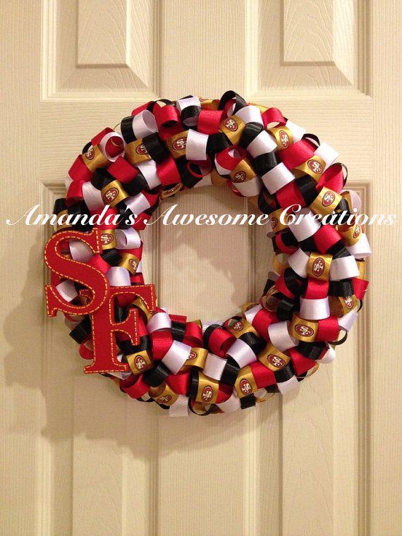 San Francisco 49ers Wreath  by AmandasCreations11 on Etsy