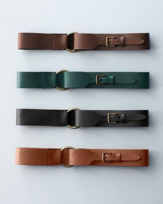 Great for a women's belt...Eloisa Wide Leather Belt                                                                                                                                                      More