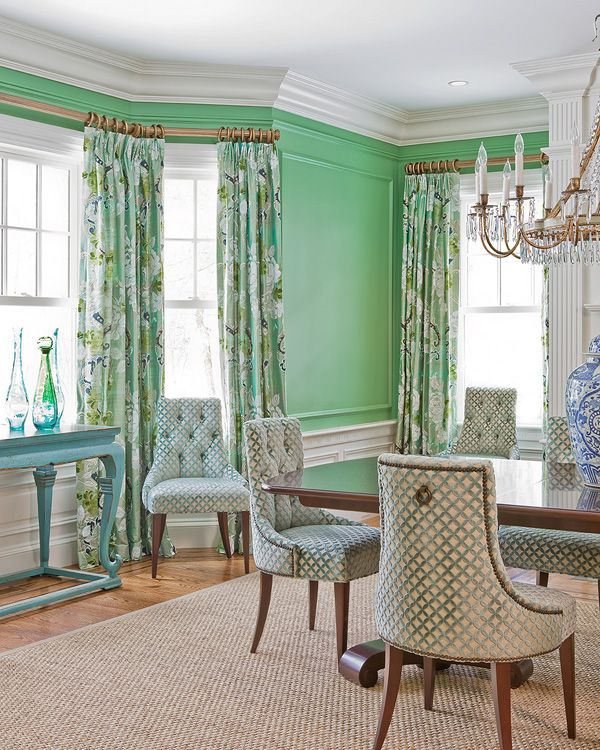 Green Dining Room Colors green dining rooms. cottage/country dining room photobenning