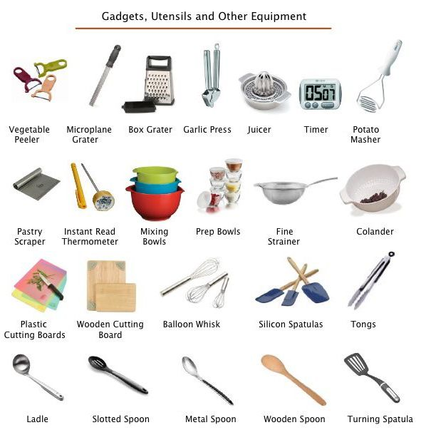 1000 images about kitchen equipment on pinterest for Kitchen equipment list