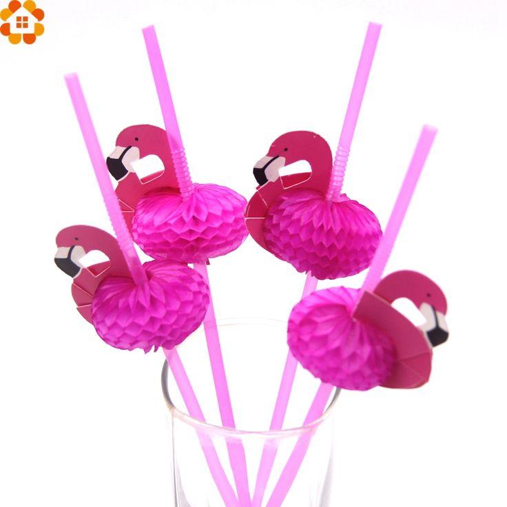 New 20PCS/Lot Cute 3D Flamingo Straw Bendy Flexible Plastic Drinking Straws Kids Birthday/Wedding/Pool Party Decoration Supplies //Price: $9.95 & FREE Shipping //     #partysupplieslight