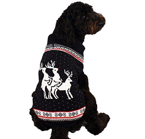 Reindeer Threesome Naughty Dog Christmas Sweater in Navy - Ugly Christmas Sweater (Large) By Festified Even dogs have a sense of humor! Dress your pup in our Reindeer Threesome sweater and they will Read  more http://dogpoundspot.com/reindeer-threesome-naughty-dog-christmas-sweater-in-navy-ugly-christmas-sweater-large-by-festified/  Visit http://dogpoundspot.com for more dog review products