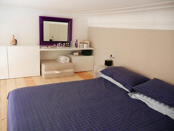 Loft Design #apartment #milan #italy #renovation #interiordesign #bedroom #bed #kartell #mirror
