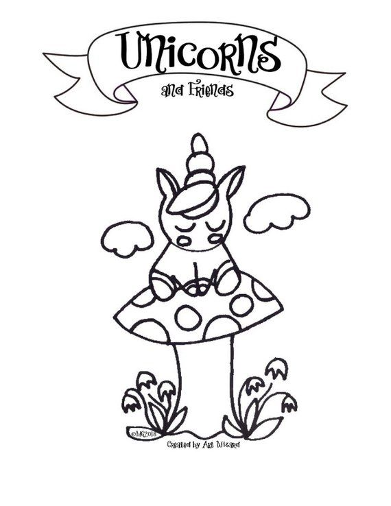 Unicorn Friends Coloring Book 11 Pages Digital Download Coloring Books Happy Birthday Coloring Pages Coloring Pages