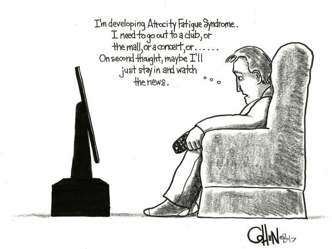 Funy or Sad, but all too True - Prayers for all suffering from Manchester terror attack.  The cartoonist's homepage, citizen-times.com/voices-views