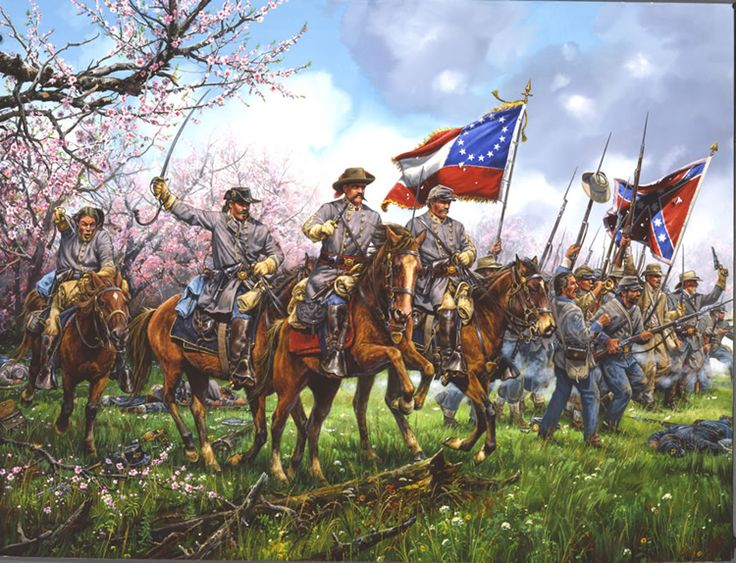 CHARGE THOUGH THE PEACH ORCHARD    Shiloh, Tennessee  April 6, 1862