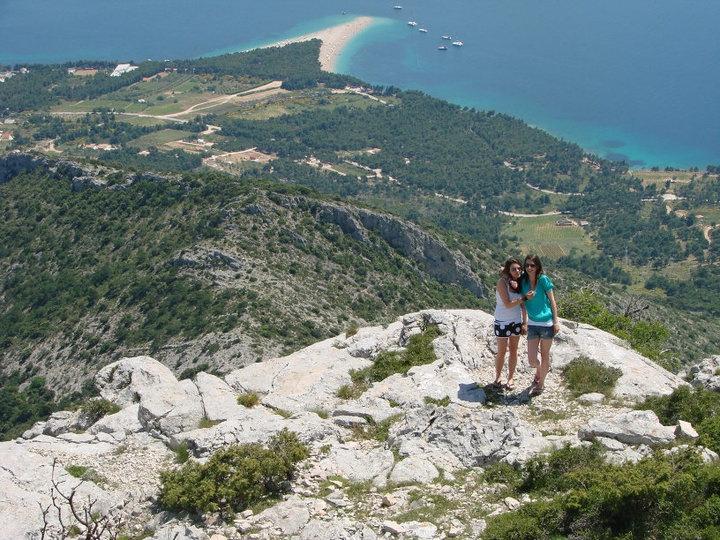 View of Zlatni Rat beach from Vidova Gora, Brac, Croatia