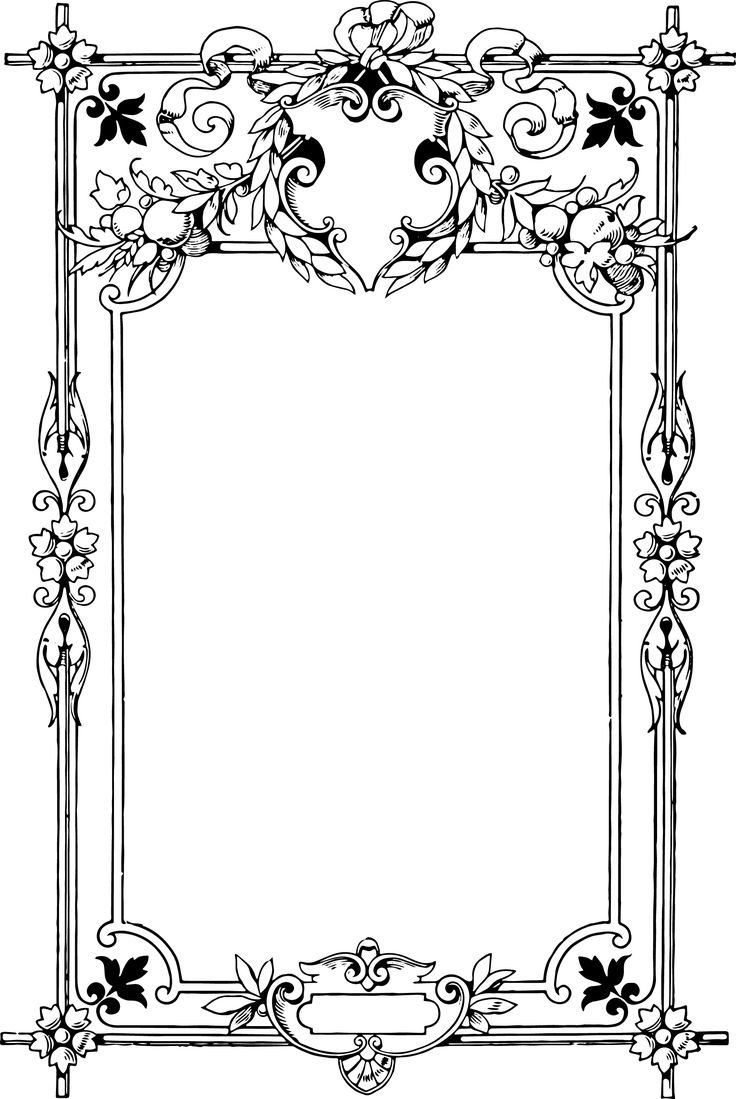 vintage graphics and printables | Black and White Clip Art Border Frame Download