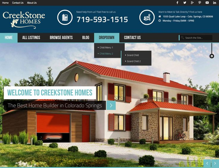Sneak peek at new #WordPress #website we're working on for an incredible #locallyowned home builder. #720MEDIA #ColoradoSprings #Colorado #realestate #Google+