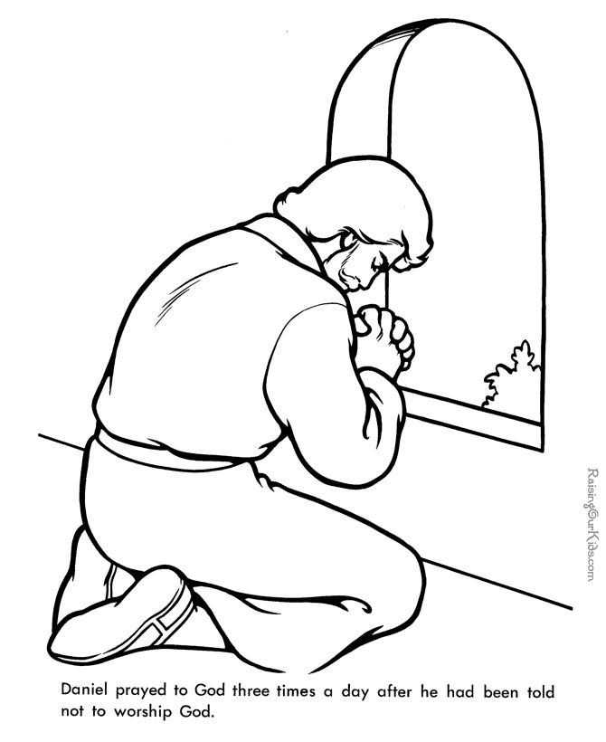 daniel bible page to print and color - Bible Story Coloring Pages Daniel