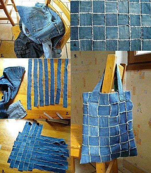 Denim Bag - DIY - AllDayChic