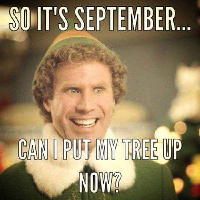 So it's September...