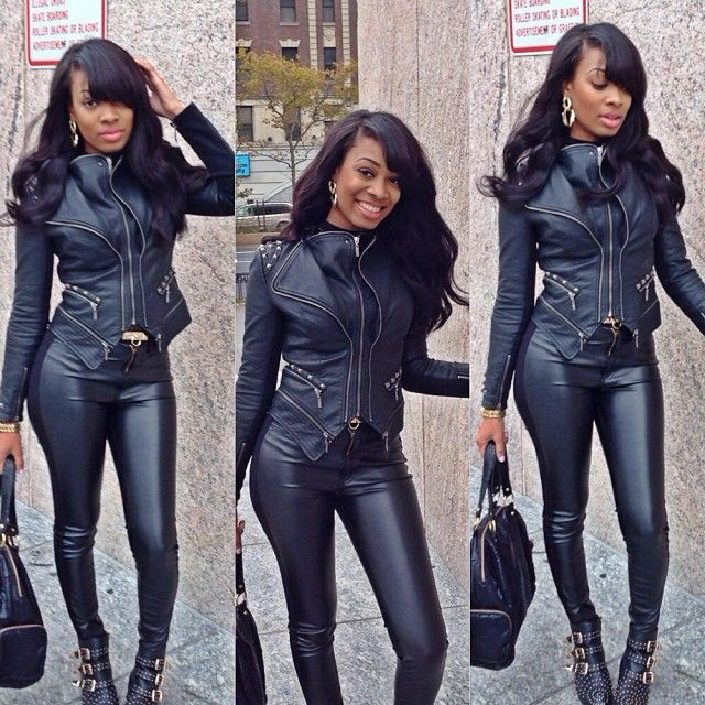 Black Women Urban Styles: 120 Best Images About I Love Leather Clothes On Pinterest