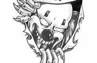 scary clown tattoos | Evil Clown Stencil http://www.tattoora.com/categories/clown-tattoo ...