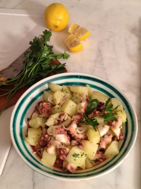 insalata di polipo e patate - italian food, love italy