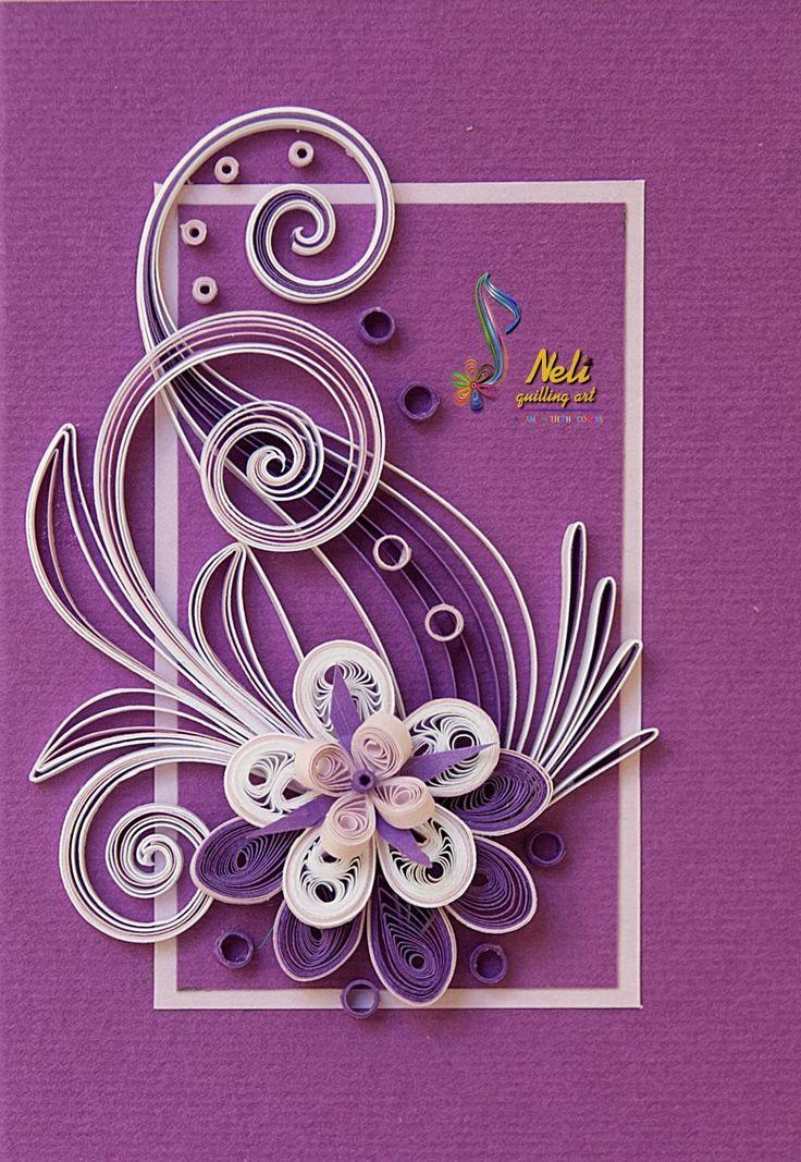 neli: Quilling cards /10.5 cm- 7.5 cm/