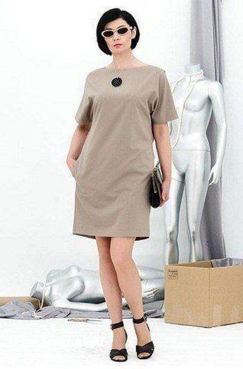 В копилку любителей шитья.Красивое платье с цельнокроеным рукавом.