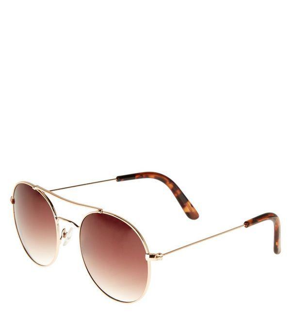Gold Oversized Round Sunglasses | New Look