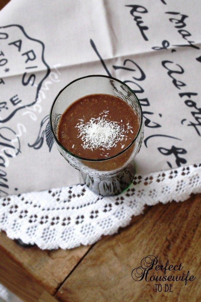 Gezonde chocolade milkshake