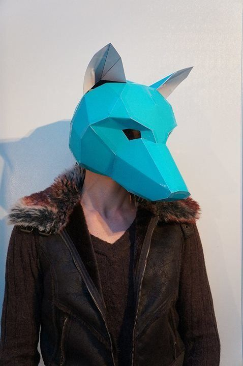 The Blue Wolf  The 18 Most Stunning 3D Masks Created By A Talented Designer • Page 5 of 5 • BoredBug