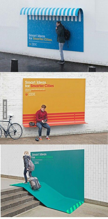 The advertising posters that think they 39 re street furniture ibm creative and advertising - Furniture advertising ideas ...