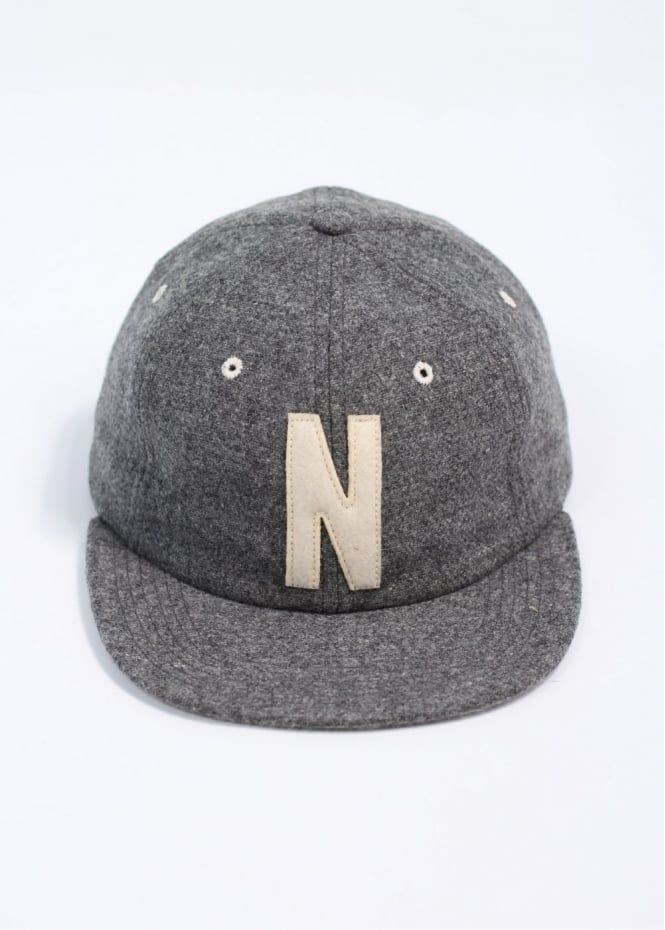 Norse Projects Wool 6 Panel Cap - Grey