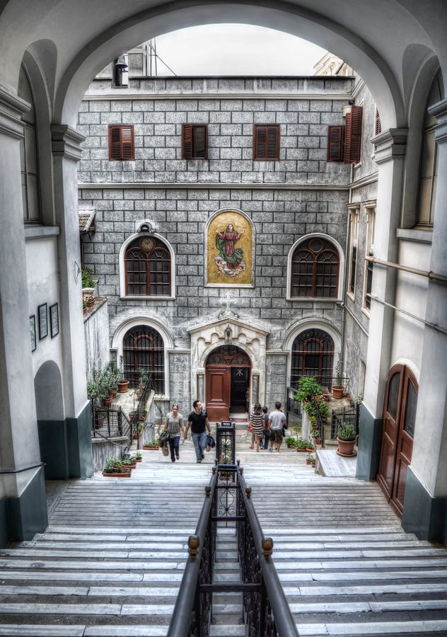 The Church of Saint Mary Draperis in Beyoglu