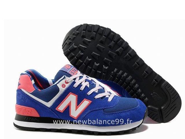 New Balance 574 Femme Blanche Et Bleu