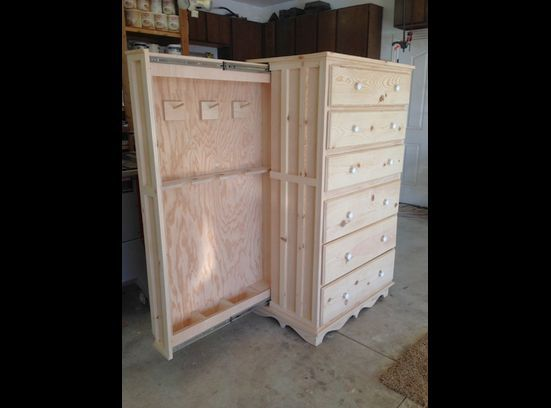 Chest Of Drawers With Hidden Gun Cabinet