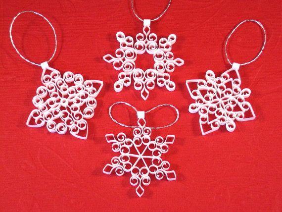Ornements de Noël de flocon de neige : Petite par ForeverFiligree