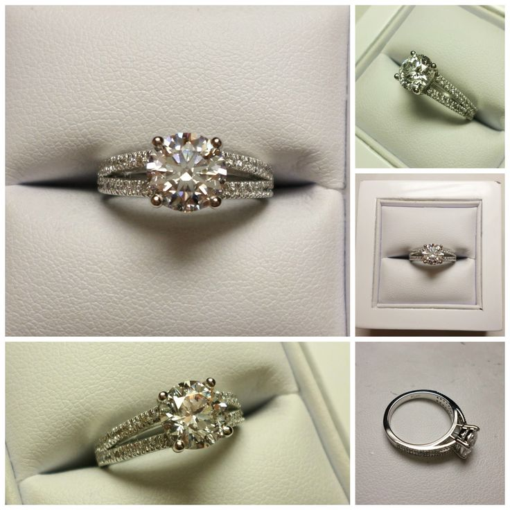 Another stunning ring created by our very talented Kasey. Our client already had the diamond, Kasey just needed to source the perfect setting to compliment the amazing gem stone. A stunning round cut D clarity Diamond set on a platinum split shank diamond set band. The end result is just amazing and is the perfect combination for someone to ask the big question! #shesaidyes