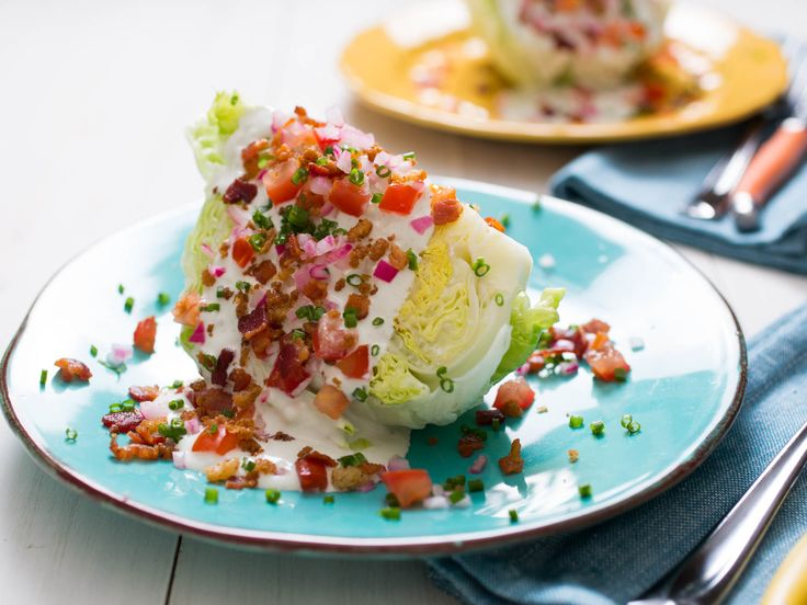 Perfect wedge salad, from Serious Eats. Could use vegetarian bacon bits but I feel like it MIGHT lose some of the health risk associated with this much deliciousness.